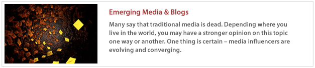 Emerging Media & Blogs